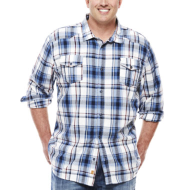 jcpenney.com | Monte Long-Sleeve Plaid Woven Shirt - Big & Tall