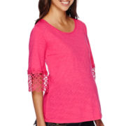 Planet Motherhood Maternity Crochet Knit Top