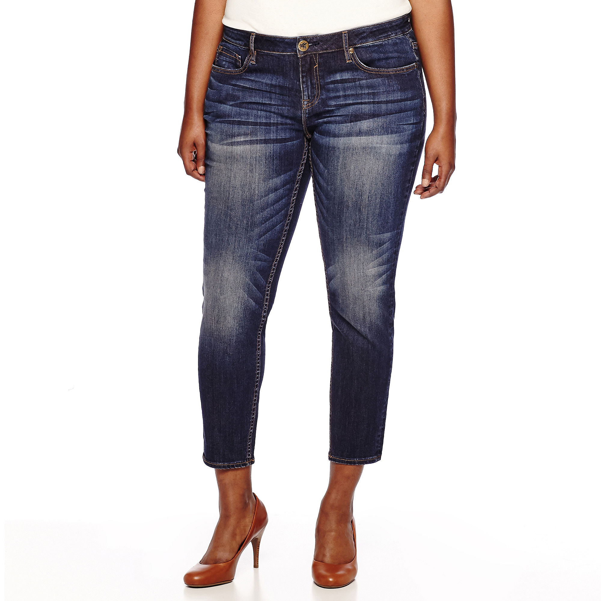 Yaso Low Rise Ankle Skinny Jeans - Juniors Plus plus size,  plus size fashion plus size appare