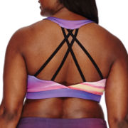 City Streets® Strappy Sports Bra - Juniors Plus