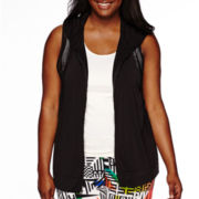 City Streets® Mesh Vest Hoodie - Juniors Plus