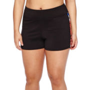 City Streets® Yoga Shorts - Juniors Plus