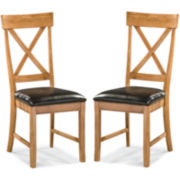Breeland Set of 2 X-Back Dining Chairs