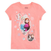 Disney Collection Short-Sleeve Frozen Cast Graphic Tee - Girls