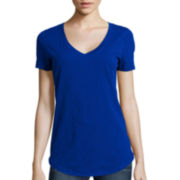 Stylus™ Relaxed Fit Slub V-Neck T-Shirt