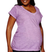 a.n.a® Maternity Short-Sleeve V-Neck T-Shirt - Plus