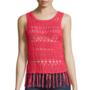 Arizona Pointelle Fringed Tank Top