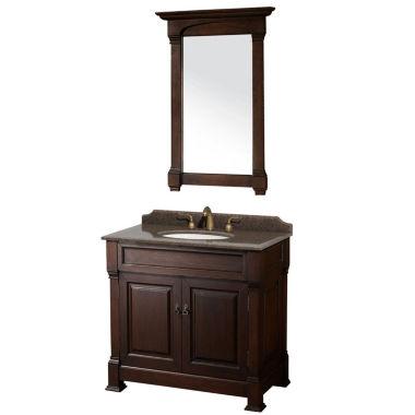 Bathroom Vanities Jcpenney andover 36 inch single bathroom vanity; imperial brown granite