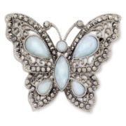 Liz Claiborne® Blue Butterfly Boxed Brooch