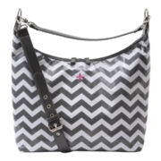 JP Lizzy Glazed Chevron Hobo Diaper Bag