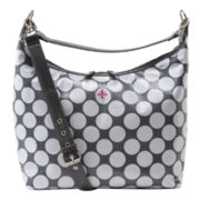 JP Lizzy Glazed Polka-Dot Hobo Diaper Bag