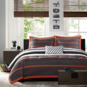 Mizone Jonah Striped Comforter Set