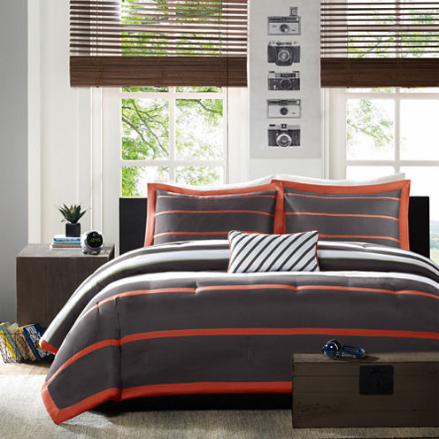 Mi Zone Jonah Striped Comforter Set