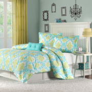 Mizone Paige Damask Duvet Cover Set