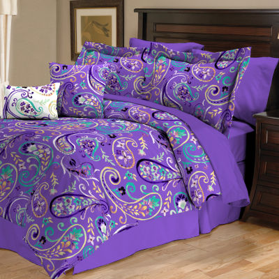 thereu0027s maybe a little more lime green in it than i care for but the paisley purple and turquoise make up for it