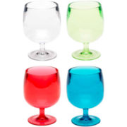 Zak Designs® Set of 4 Acrylic Cordial Glasses