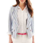 jcp™ Linen Jacket - Tall