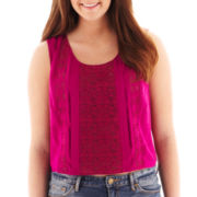 Arizona Cropped Lace-Inset Tank Top - Plus