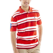 U.S. Polo Assn.® Striped Piqué Polo