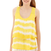 by&by Sleeveless Tie-Dye Popover Top