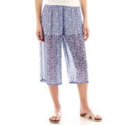 Olsenboye® Paisley Chiffon Gaucho Pants