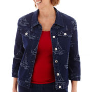 Alfred Dunner® American Dream Sailboat Jacket - Petite