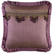 "Queen Street® Nottingham Merlot 20"" Square Decorative Pillow"