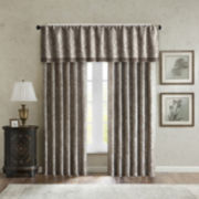 Madison Park Whitman 2-Pack Paisley Jacquard Curtain Panels