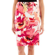 Worthington® Floral Print Pencil Skirt - Petite