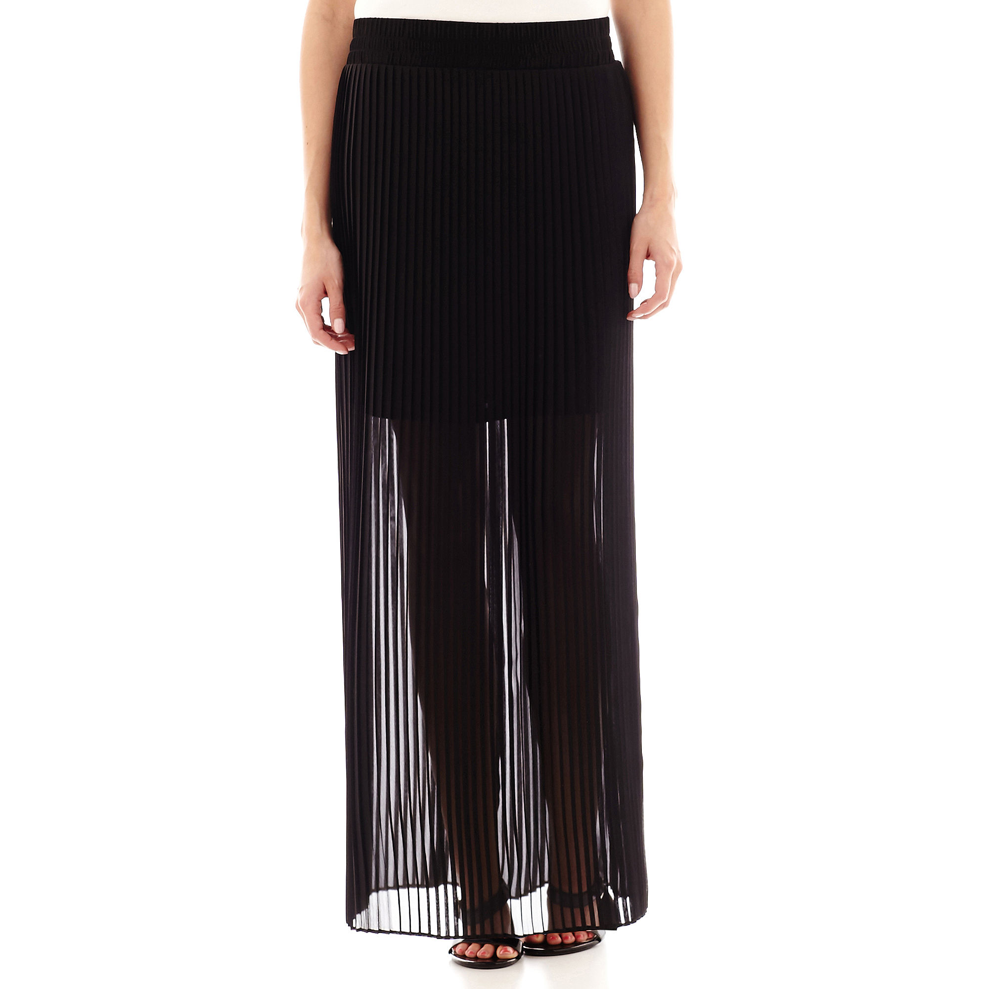 Worthington Pleated Maxi Skirt - Petite plus size,  plus size fashion plus size appare