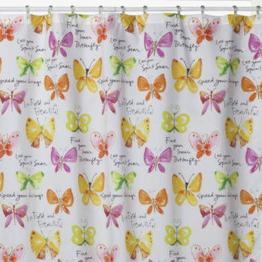 jcpenney.com | Creative Bath™ Flutterby Shower Curtain