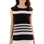 Liz Claiborne® Sleeveless Striped Blouse with Cami