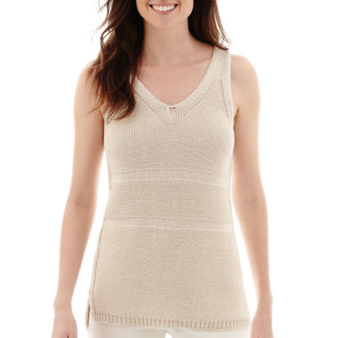 jcpenney.com | Liz Claiborne® V-Neck Sweater Tank Top