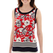 Liz Claiborne® Floral Border Tank Top