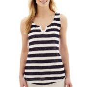 Liz Claiborne® Striped Tank Top