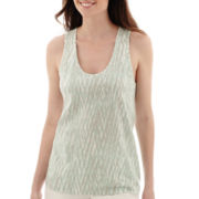 Liz Claiborne® Weekend Printed Tank Top