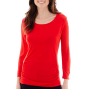 Liz Claiborne® Long-Sleeve Weekend T-Shirt
