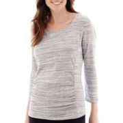 Liz Claiborne® 3/4-Sleeve Weekend T-Shirt