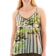 a.n.a® Swing Woven Tank Top - Plus