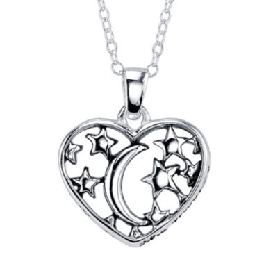 jcpenney.com | Footnotes® I Love You to the Moon and Back Sterling Silver Pendant Necklace