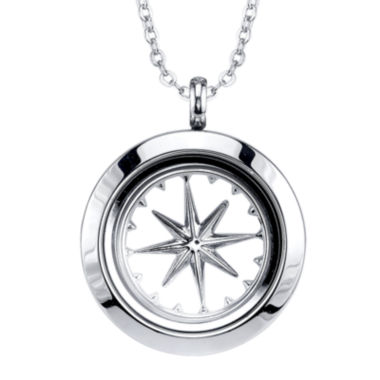 jcpenney.com | Footnotes Too® Compass Interchangeable Locket Pendant Necklace