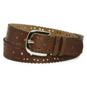 Relic® Tan Scalloped Perforated Belt