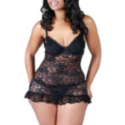 Urban Intimates LUXE® Forever Loved Ruffled Babydoll - Plus