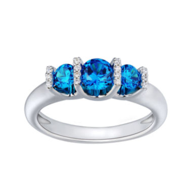 jcpenney.com | Love Lives Forever™ 1 CT. T.W. Color-Enhanced Blue Diamond Engagement Ring