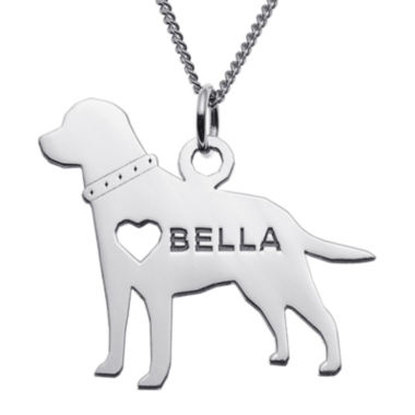 jcpenney.com | Personalized Labrador Sterling Silver Pendant Necklace
