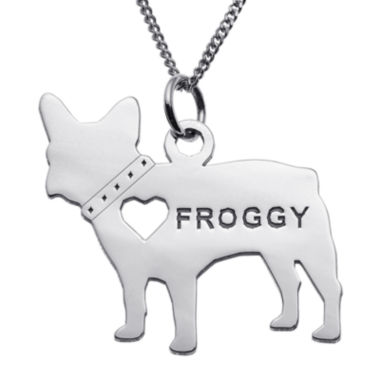 jcpenney.com | Personalized French Bulldog Sterling Silver Pendant Necklace