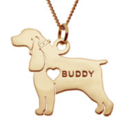 Cocker Spaniel 14K Yellow Gold Over Sterling Personalized Pendant Necklace