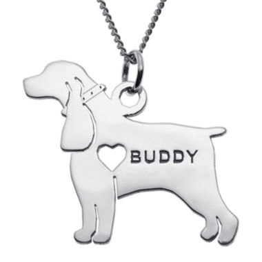 jcpenney.com | Personalized Cocker Spaniel Sterling Silver  Pendant Necklace