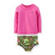 Carter's® Polka Dot Rashguard Set – Baby Girls newborn-24m