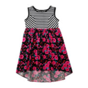 Youngland® Chevron and Floral Dress – Toddler Girls 2t-4t
